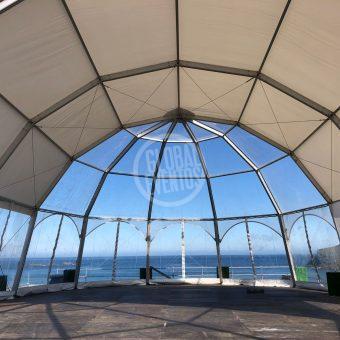 carpa iglú desde el interior